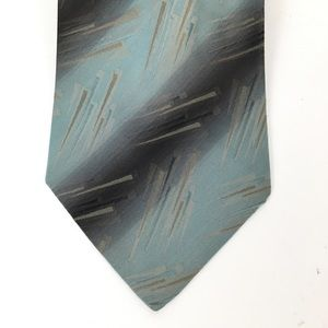 Aleta Milano striped patterned 100% silk neck tie